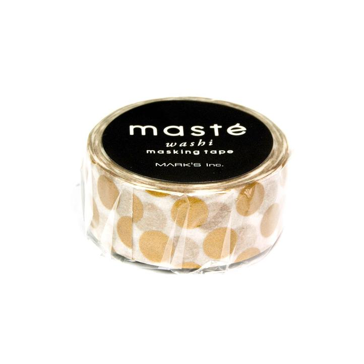 Masking Tape – Punkte weiss-gold